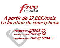 actualité : Free propose la location d'un Iphone 5S, Galaxy S4 et Note3